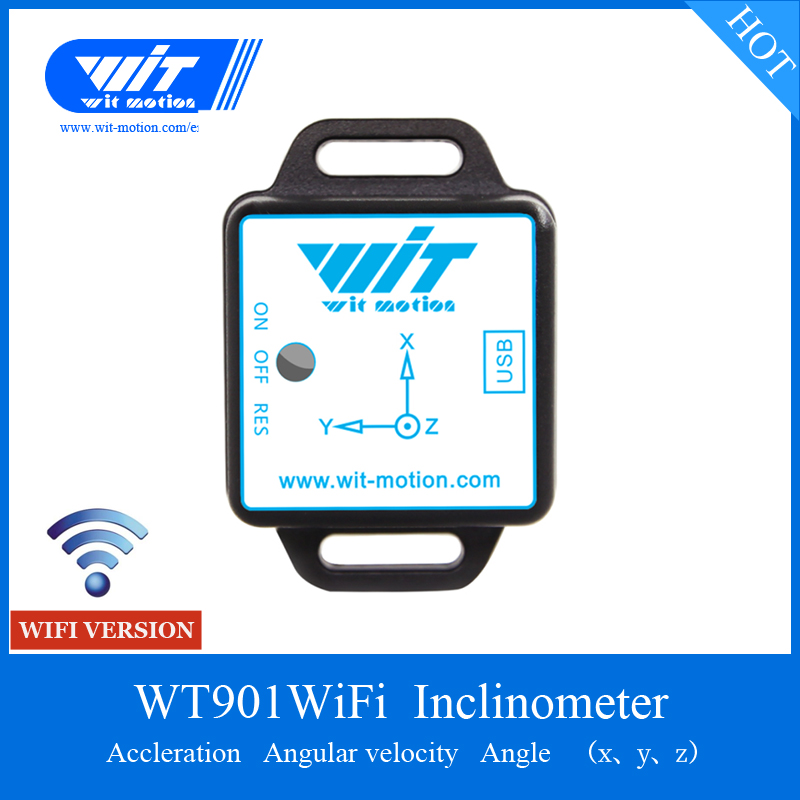 WitMotion WT901WIFI WiFi Wireless 3 Axis Accelerometer Gyro Angle Magnetic Field Output Inclinometer Support For Multi
