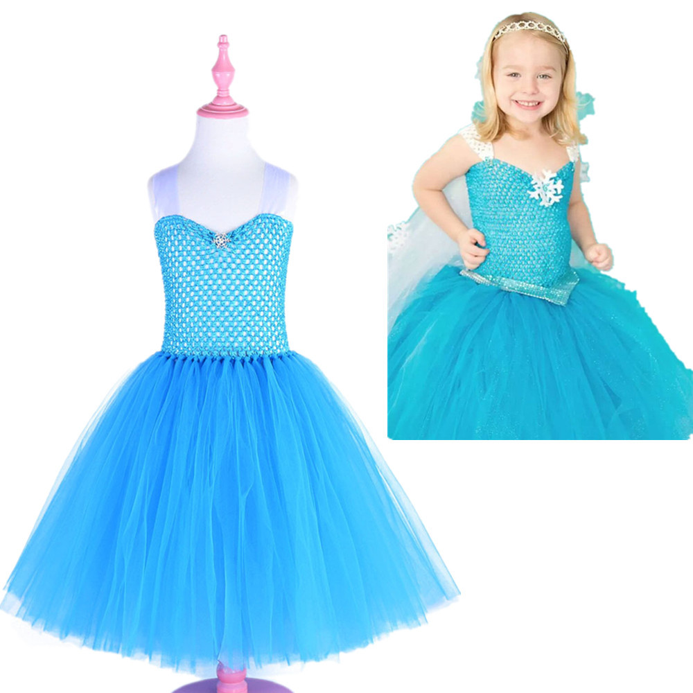 2019 New Lace Vest Girls Dress Girl Elegant Cute Princess Dress Halloween Costume Ice Queen Bunny Kids Party Dresses For Girls