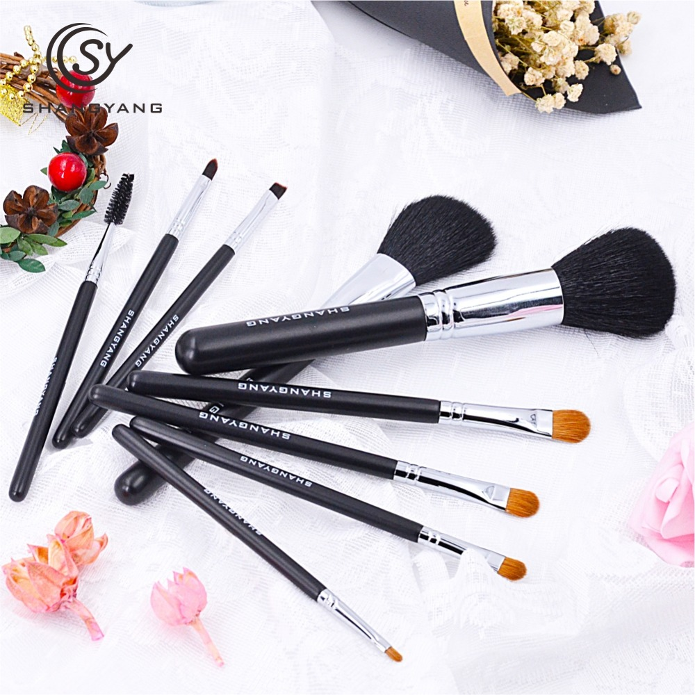 sy 10PCS Pro Makeup Brushes Set Foundation Blending Powder Eyeshadow Contour Concealer Blush Cosmetic Beauty Make Up Kits super cute big five star cotton beanie hats skull cap for 1 4 years toddler infant baby winter children caps warm hat