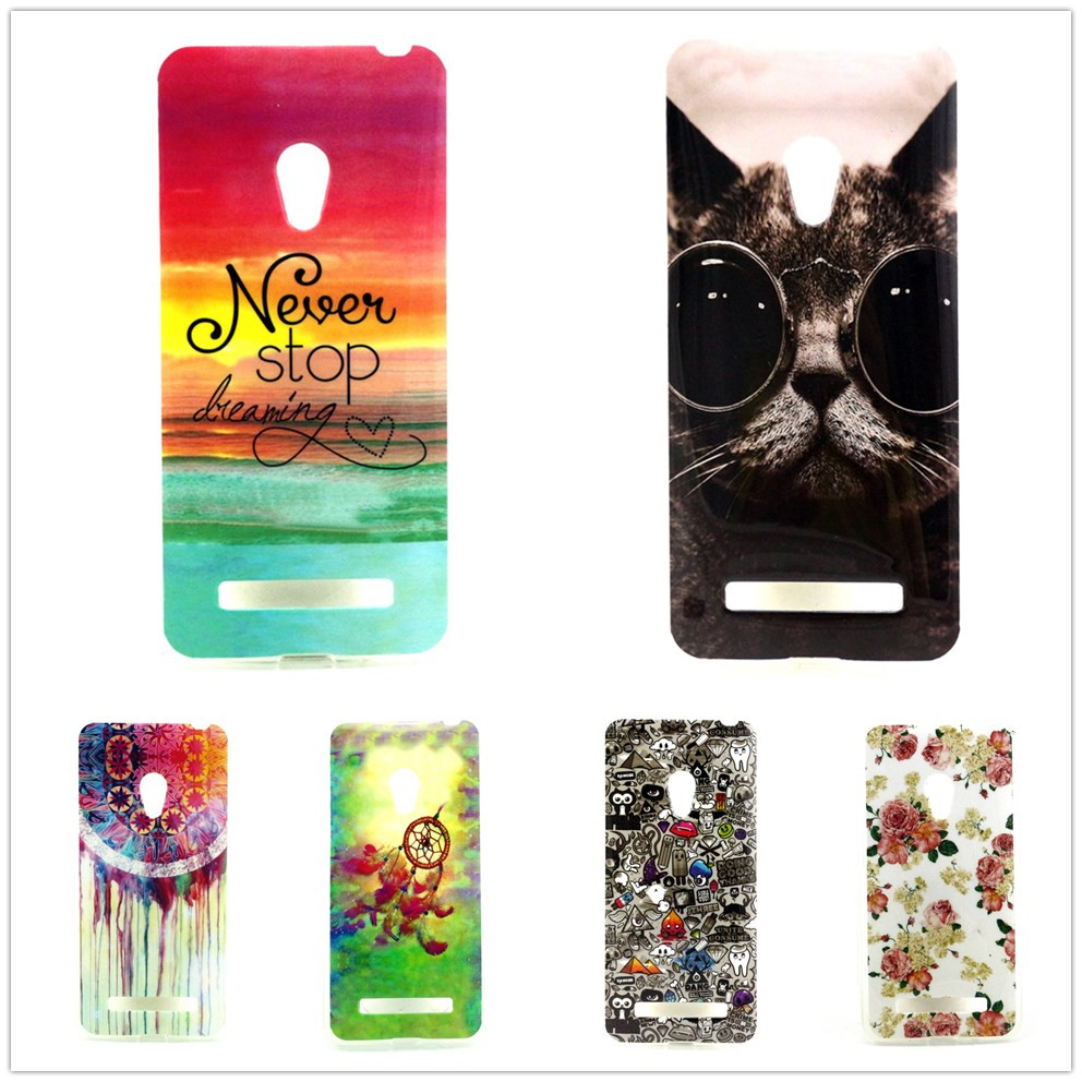 Free Shipping New Arrival Soft Silicon TPU case cover For Asus Zenfone 5 Image Back Case For Asus Zenfone 5 Case Cover