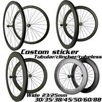 carbon wheels 30mm 35mm 38mm 45mm 50mm 55mm 60mm 80mm 88mm carbon bicycle wheels wide 23/25mm 700C road bike carbon wheelset