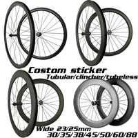 custom Sticker carbon wheels 35mm 38mm 45mm 50mm 60mm 88mm carbon bicycle wheels wide 23/25mm 700C road bike carbon wheelset