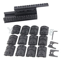 Tactical AK 74 Handguard Rail with 6pcs Covers Hunting Shooting Tactical RIS Quad Rail System