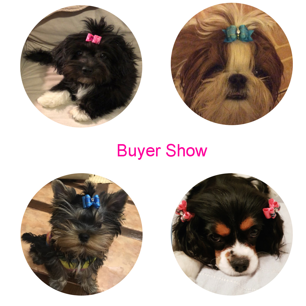 10PCS Handmade Cute Pet Dog Bow Loverly Bowknot Dog Ties For Puppy Dogs Accessories With Rubber Bands Cute Pet Headwear Grooming (2)