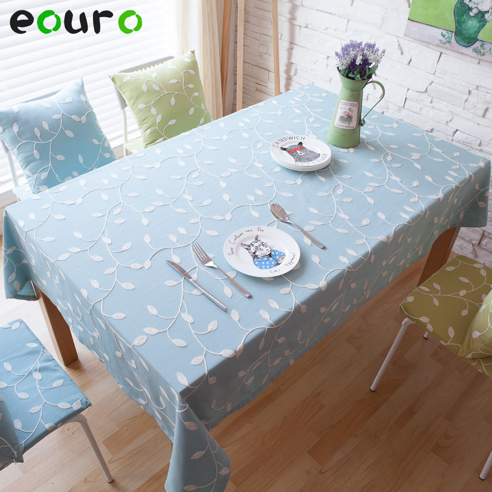 Fresh embroidery Cotton Table Cloth home restaurant diner coffee table cover 140*180/200/250/cm tablecloths Dust cover