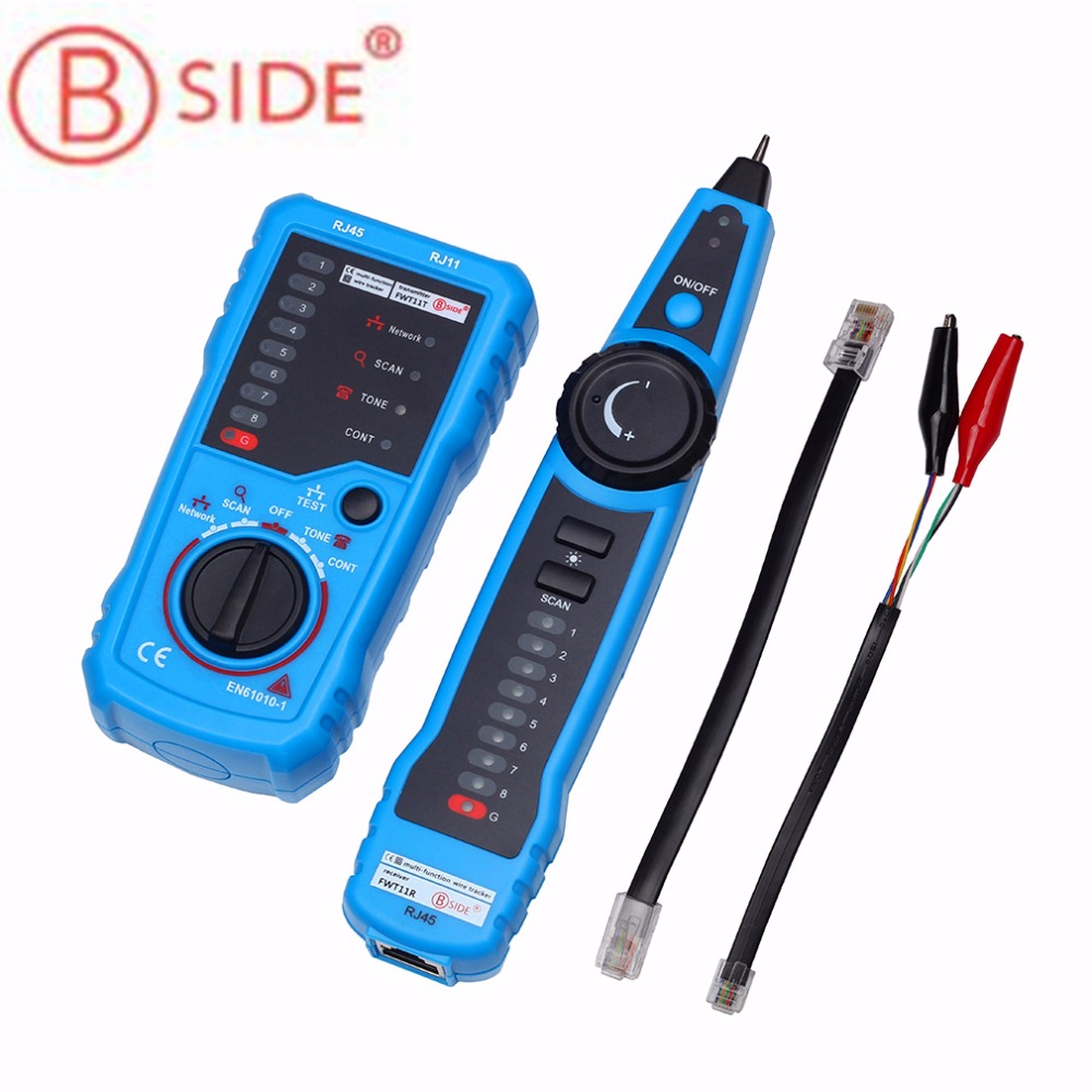 BSIDE RJ11 RJ45 Cat5 Cat6 Telephone Wire Tracker Tracer Toner Ethernet LAN Network Cable Tester Detector Line Finder new rj45 rj11 ethernet lan network cable tester wire tracker detector telephone wire tracer line finder tester with bnc terminal