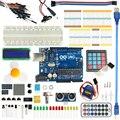 Para Arduino Starter Kit arduino uno R3 Kit Suite de Aprendizaje Básico Mejorado Motor de Pasos LCD1602 LLEVÓ Cable de Puente Para Arduino