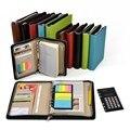 Лента молния отрывными листами коммерческий молния сумка для ноутбука блокнот, калькулятор папка менеджер Notebook