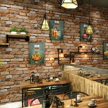 купить Vintage Brown Grey Brick Wall Papers Home Decor Wateroproof PVC Wallpaper Roll for Living Room Walls Mural papel pintado pared по цене 2181.24 рублей