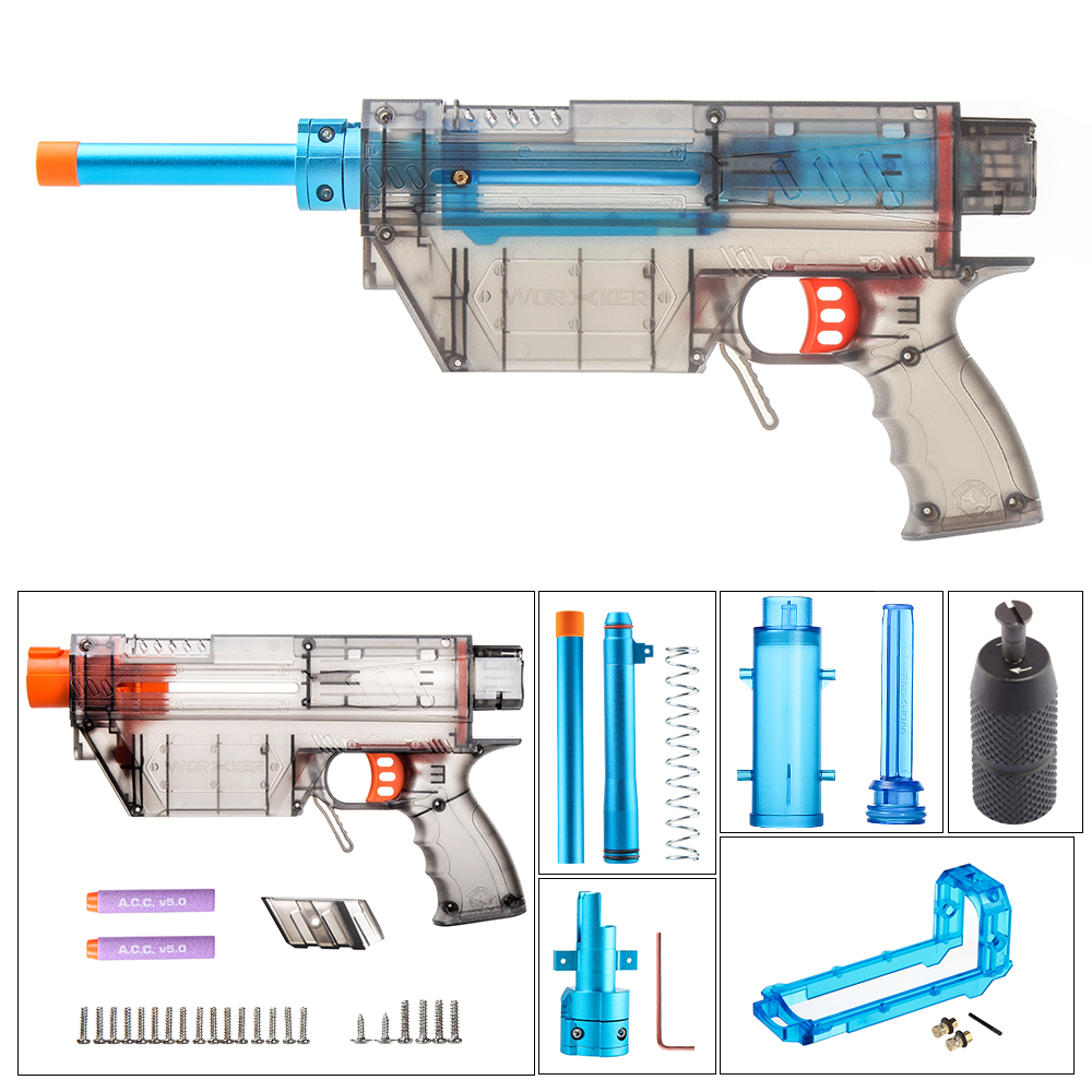 Worker Prediction R Series Modeling Short Bullet Transformed Kit for Nerf(Precision Version) - Transparent Black
