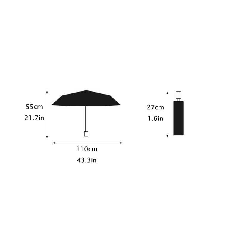 Автоматический складной зонт для 3-х кратного анти-УФ зонтик Созвездие автоматический зонт женский зонтик от солнца зонтик