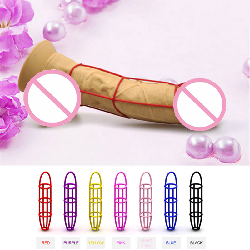 Sex Toys Penis Male Enlargement Lock Fine Delay Increases Growth Rings Silicone Soft -999
