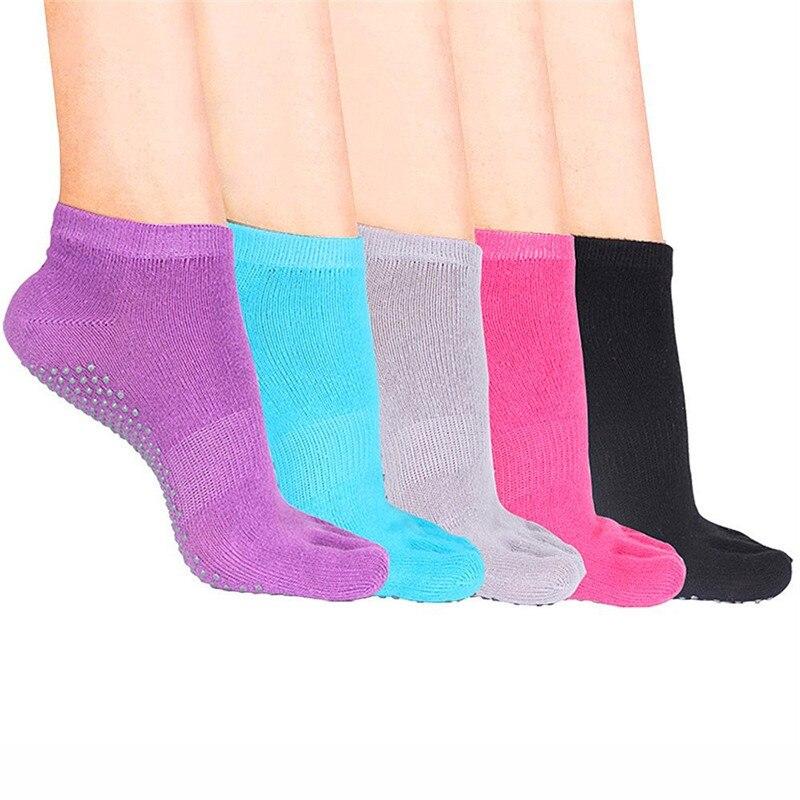 Women Professional Socks Non-slip Five Finger Toe Socks Pilates Massage Socks for Women