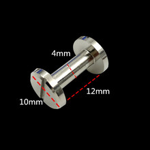 XUNZHE Rivets HOT 20pcs Silver Luggage Leather metal Craft Solid Screw Nail Rivet 4- 12mm strap Copper  great quality