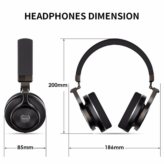 Original Bluedio T3 Bluetooth headphone  built-in  microphone  headset with Bass  Bluetooth  wireless headset for musicphone