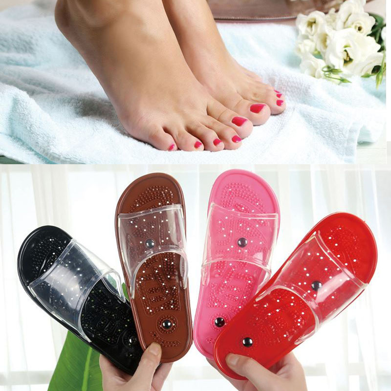 Reflexology Foot Massage Slippers Detox Foot Magnets Relax Bath Non slip Acupressure Slippers Summer Anti Cellulite Massager in Massage Relaxation from Beauty Health