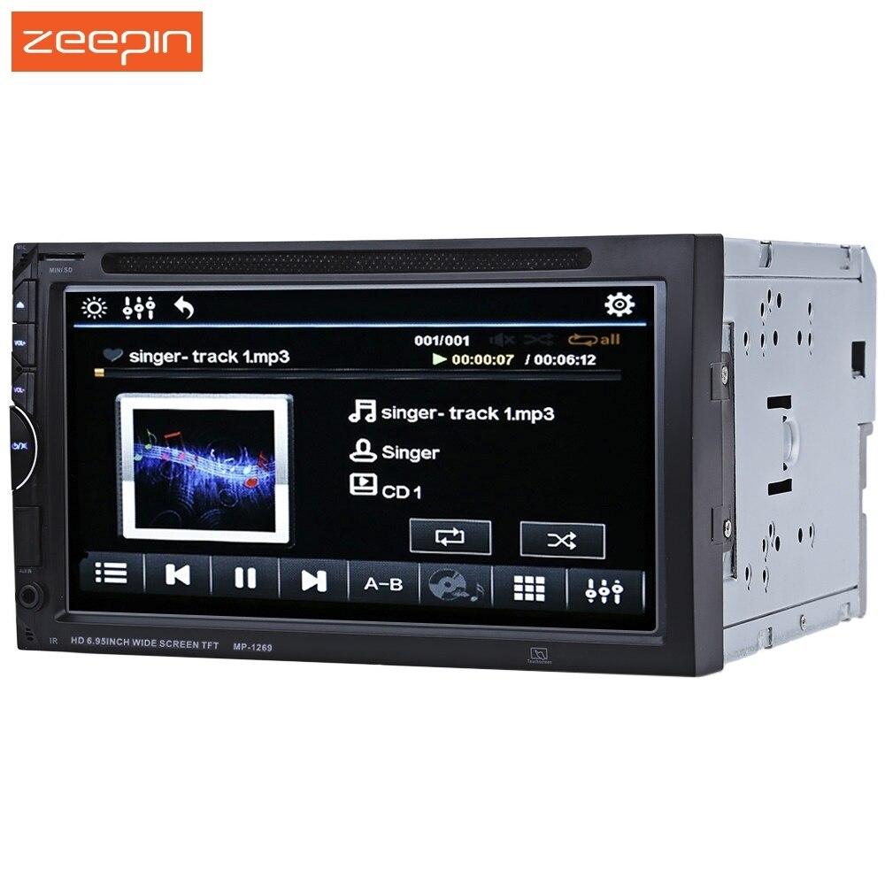 imágenes para 7''1269 2 Din Pantalla Coche Reproductor de Vídeo 45 W medTouch Bluetooth Estéreo de Audio Del Coche de Radio Auto Electrónica