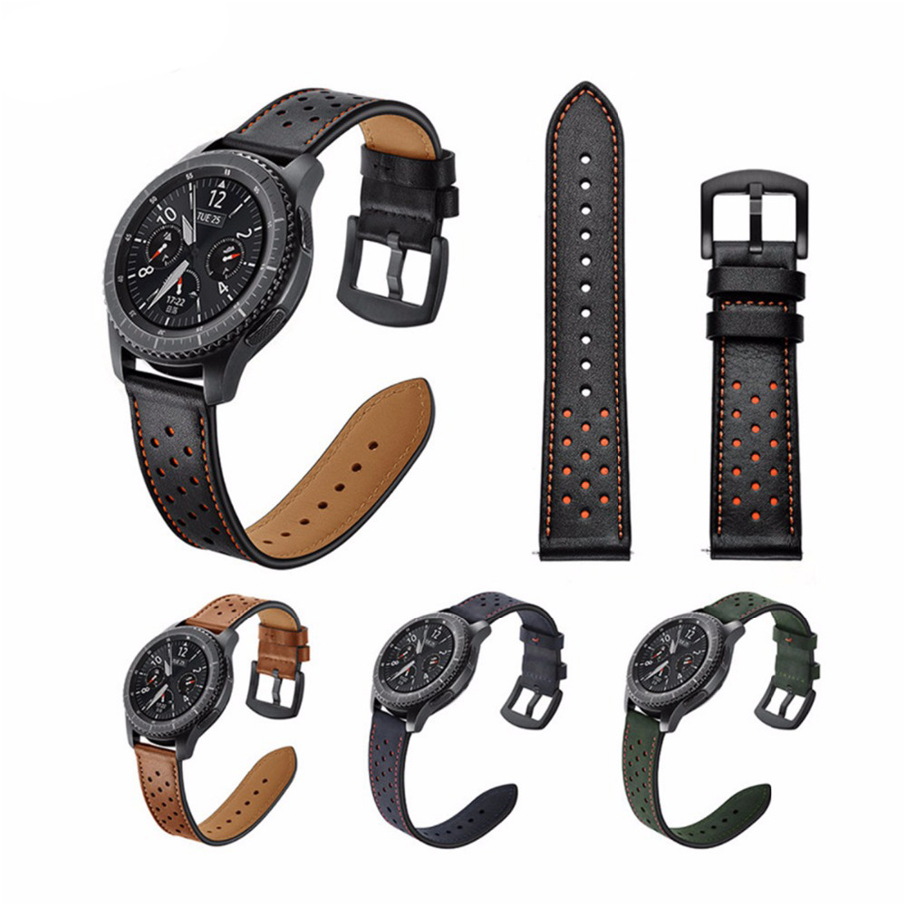 22mm Retro Genuine Leather Strap for Samsung Gear S3 Watch Band for Gear S3 Classic/ Frontier Metal Buckle Wristband excellent quality new genuine leather watch band strap for samsung galaxy gear s2 classic sm r732