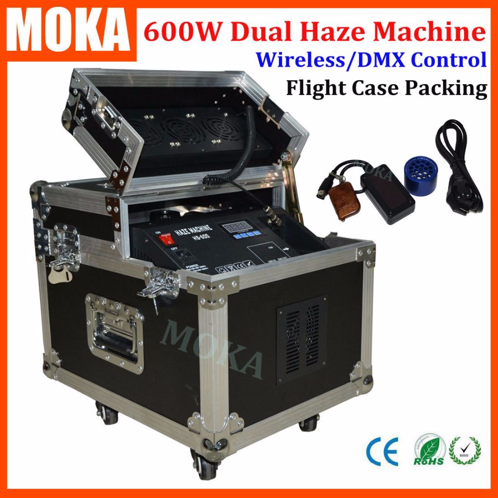 1 Pcs/lot flight case packing 600w dual fog machine dmx smoke machine remote Triple Blowing Fan LCD Screen Display haze machine sast 10 1 inch display nintaus machine singing old machine 50p lcd screen hw101f 0b 0c 50