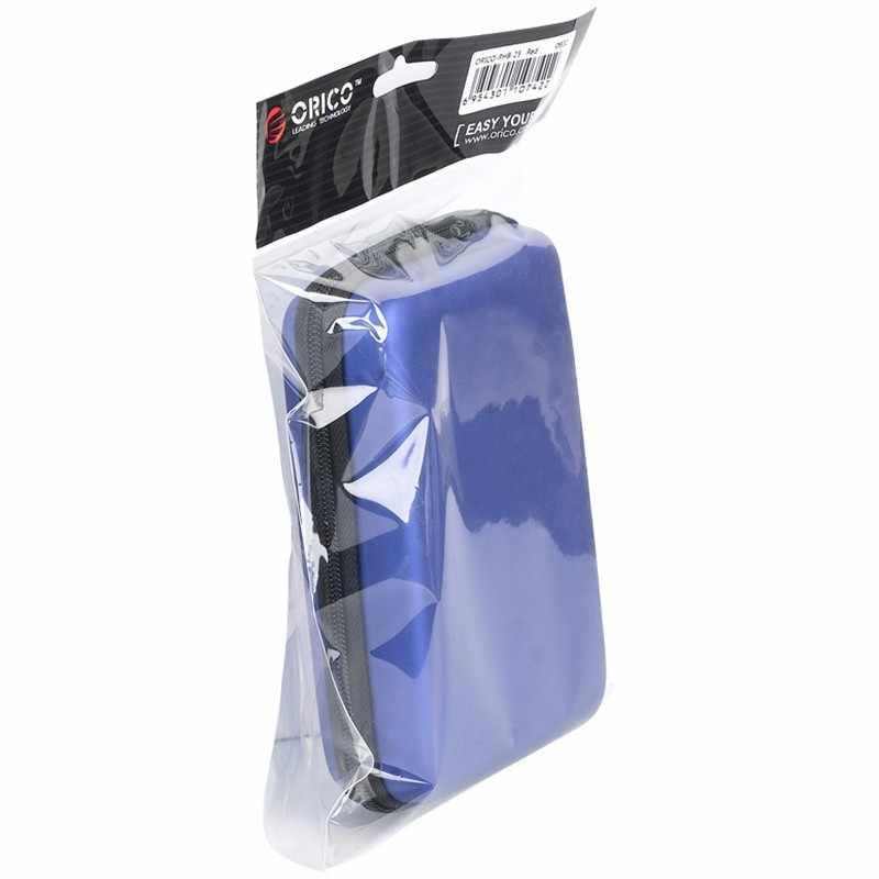 ORICO PHB-25 2.5 inç Taşınabilir Sabit Disk Taşıma Çantası, kart okuyucu, Kabloları-Siyah/Mavi/Pembe