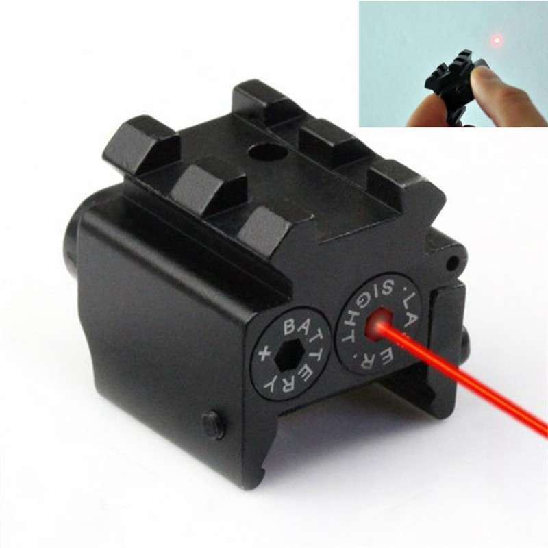 650nm 300m Mini Tactical Red Dot Laser sight Scope 28x26mm DC 4.5V Dual Weaver Rail Mount Compact Airsoft Rifle Sight