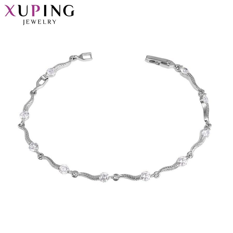 11,11 сделок Xuping Мода элегантный браслет ювелирных изделий с синтетических CZ для Для женщин Рождество подарок S40-73066