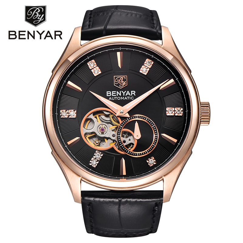 BENYAR Top Brand Luxury Watch Waterproof Automatic Mechanical Wrist Watch Mens Gold Watches Clock Hours Men Relogio Masculino top brand luxury men watch full automatic mechanical hollow watches men wristwatches hours clock mens watches relogio masculino