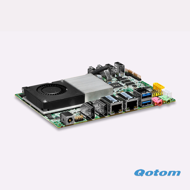 Muy Caliente de Doble núcleo Celeron 2 RJ45 Micro ITX 3215U 6 Com placa de placa de red Windows 10 y linux