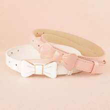 604 women's bow decoration belt fashion all-match japanned leather thin belt brief small belt