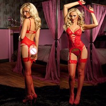 Lynmiss Sexy Sleepwear Women Plus Size Lingerie hot Erotic With Handcuffs G-string Cosplay Costume Baby Dolls Exotic Sets