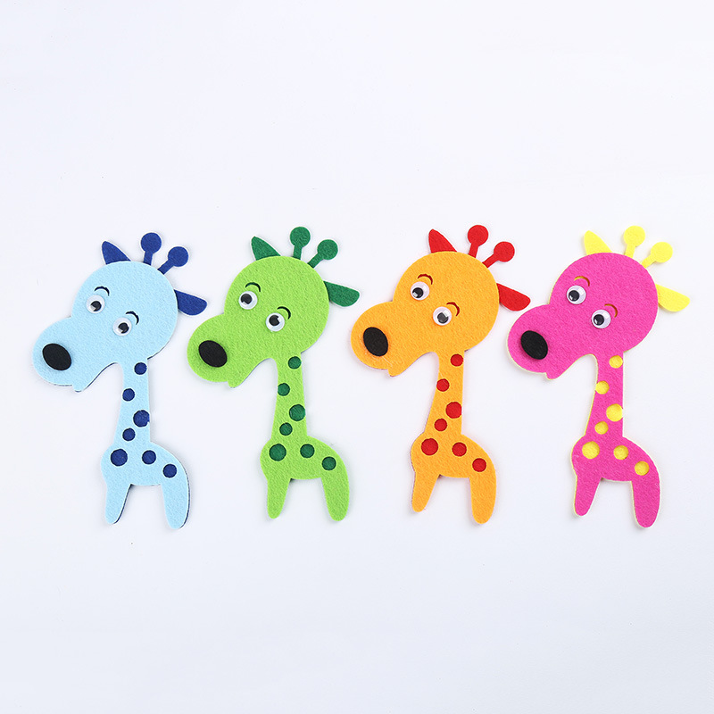 4pcs Different Color Lovely Giraffe Stickers Baby New