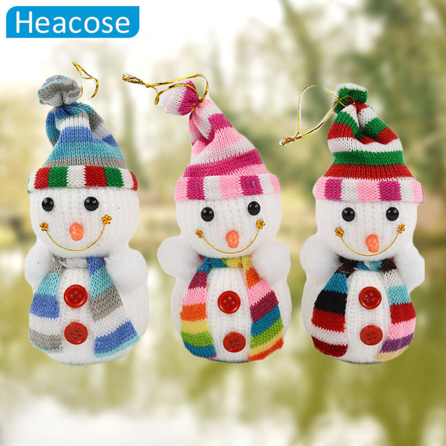 random delivery 2pcs christmas snowman hanging ornaments for xmas tree decorations gift christmas natal christmas ornament