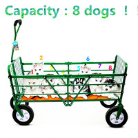 4 wheel pet cart outdoor luxury large size folded pet cat dog pet cart can load many dogs