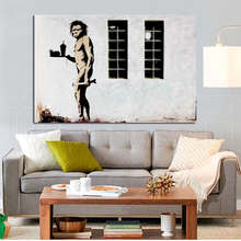 Banksy Caveman Fast Food HD Canvas Painting Prints Living Room Home Decoration Modern Wall Art Oil Posters Pictures