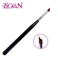 BQAN Nail French Brushes 1PCS #6 #8 Nail Brush UV Gel Nail Painting Drawing Polishing Tips Manicure Design DIY Tools Nail art