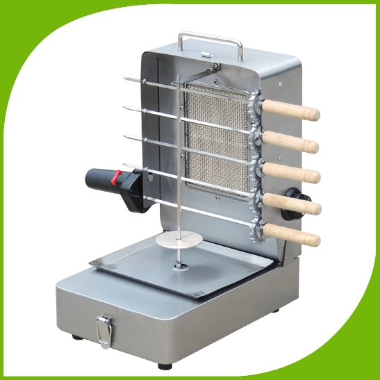 Gas Barbecue Grill Hot Sale Mini Size Gas Bbq Shawarma Machine With Skewers