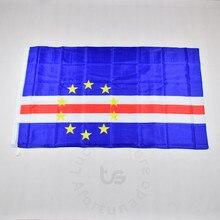 Cabo verde 90*150cm bandeira pendurado bandeira nacional para atender, desfile, festa. pendurado, decoração