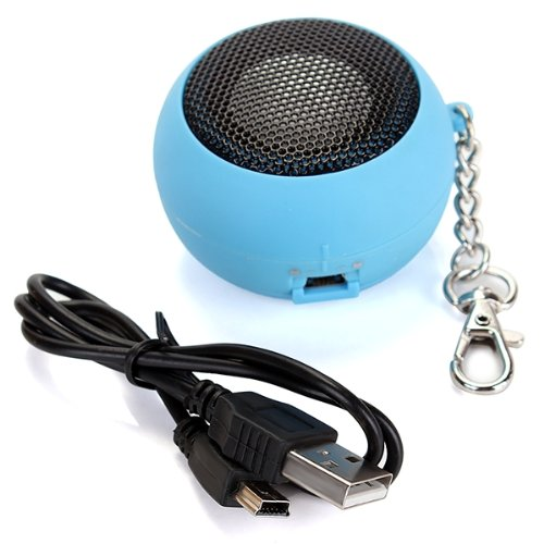 EDT-Round Mini Portable Speakers Speaker Audio Speakers USB MP3 MP4 BLEU