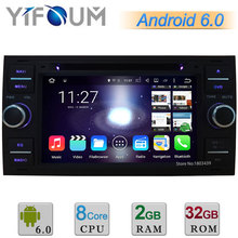 7 «Android 6 Окта основные 2 ГБ RAM 32 ГБ ROM Dvd-плеер Автомобиля Радио стерео GPS Для Ford Fusion Фокус 2 Kuga Mondeo Transit Connect DAB +