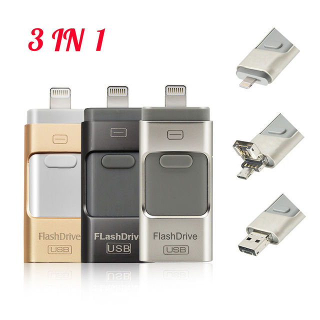 Flash Drive USB Memory Stick For Apple iPhone 5 6 6S iPad OTG Device 16GB
