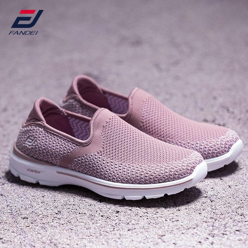 FANDEI walking shoes women new design sport shoes women shoes breathable mesh sock sneakers women slip on sapatilhas mulher