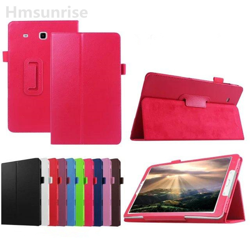 Hmsunrise For SM-T560 Case For Samsung Galaxy tab e 9.6 T560 T561 Litchi Pattern Flip Book Stand Cover For SM-T561 TabletHmsunrise For SM-T560 Case For Samsung Galaxy tab e 9.6 T560 T561 Litchi Pattern Flip Book Stand Cover For SM-T561 Tablet