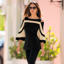 Office Lady Spring Summer Women Ladies Casual Flare Sleeve O Neck Solid Sexy shirt Blouse Tops Brief Shirts Pullovers Wear