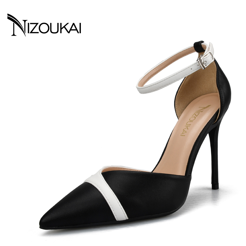 Big Size 35-44 Classic Women Pumps Pointed Toe Thin High Heels Women Shoes Party Wedding Shoes Woman Sexy Ladies Shoes l3-y10 big size 11 12 fashion pointed toe shallow casual thin heels women s shoes extreme high heels pumps woman for women