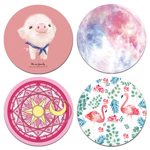 Image 2 - Beautiful Computer Mouse Padding Rubber thickening Cartoon round animal Penguin mouse pad 20CM for MacBook xiaomi Lenovo