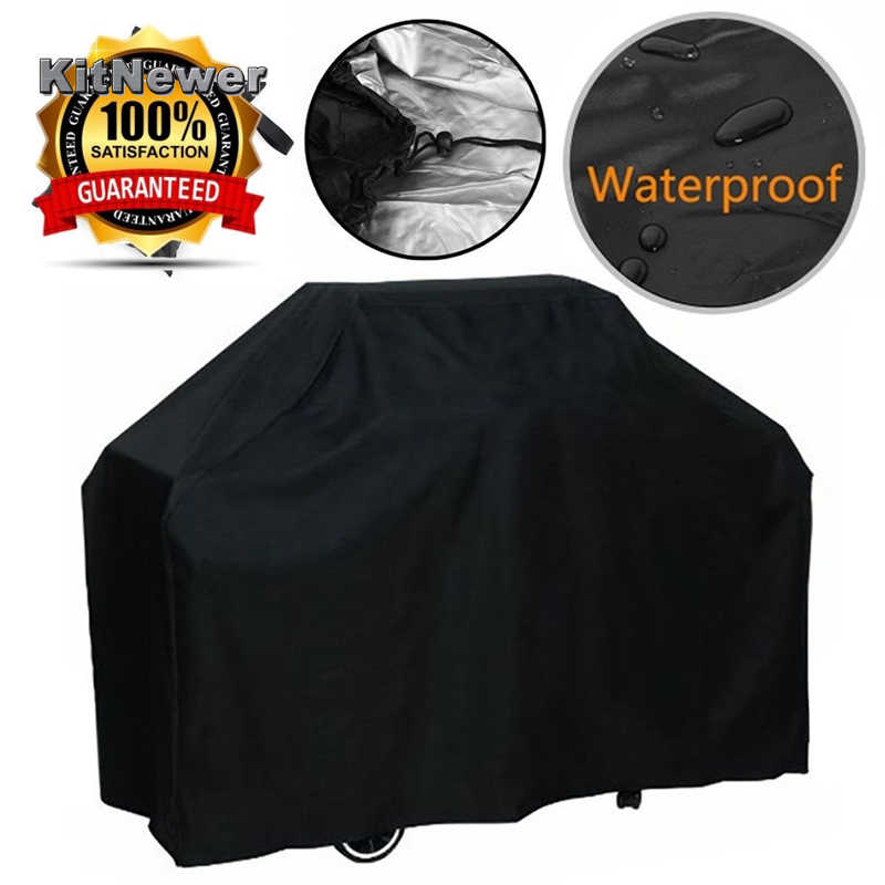 Waterproof BBQ Cover Dustproof Polyester Fibre Cloth Large BBQ Cover Gas Barbecue Grill Cover For Patio Protector
