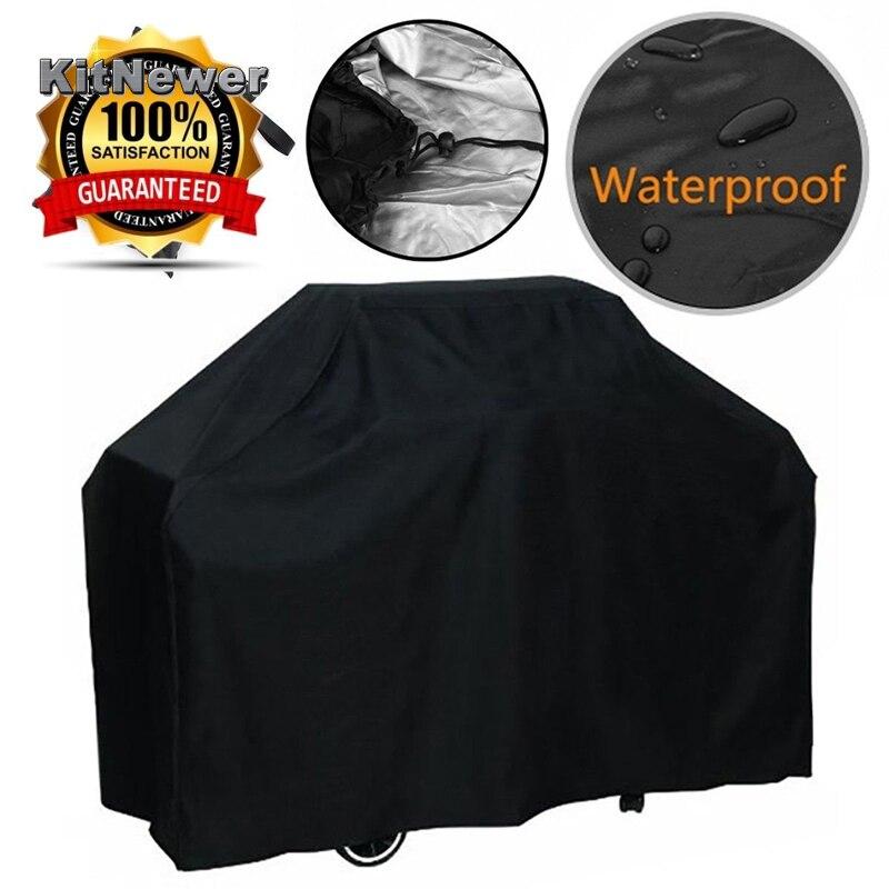 Wasserdicht BBQ Abdeckung Staubdicht Polyester Fibre Tuch Große BBQ Abdeckung Gas Grill Abdeckung Für Terrasse Protector