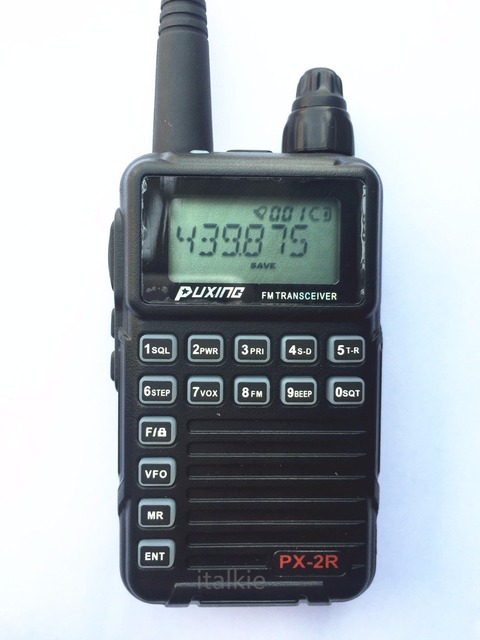 Puxing PX-2R (Updated plus version)  Dual Receiver  Two Way Radio  400-470Mhz Mini Compact Walkie Walkie, UHF TX/RX+VHF RX  PX2R