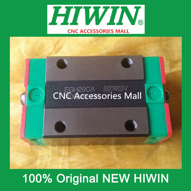 4PCS EGH20CA HIWIN linear guide slider block for linear rails HGR20 large format printer spare parts wit color mutoh lecai locor xenons block slider qeh20ca linear guide slider 1pc