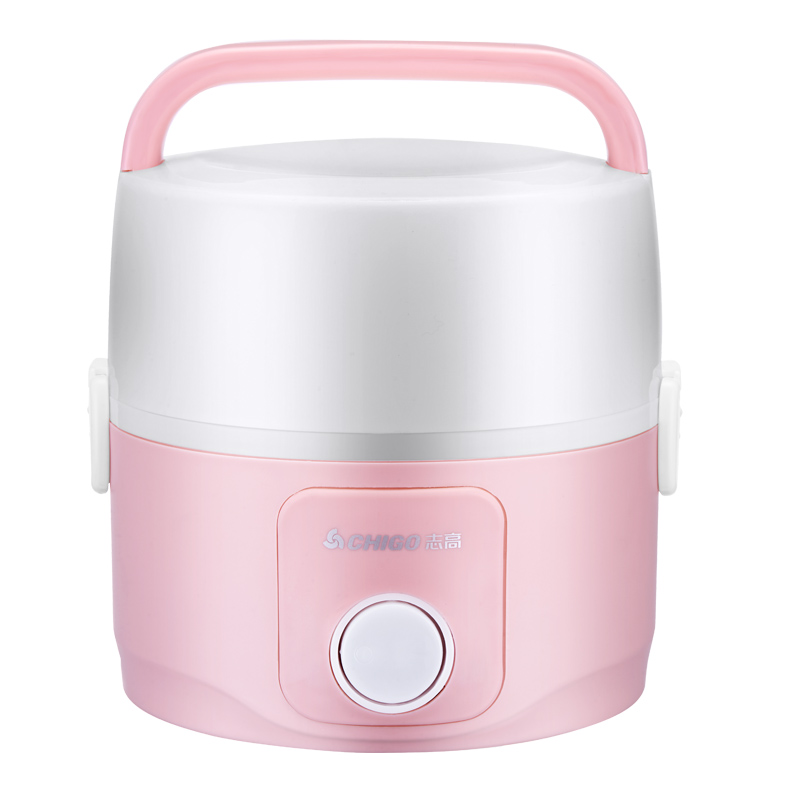 Electric lunch box Double layer Pluggable Insulation heating Mini Cooking Small rice cooker 1-2 people Egg rack cukyi 1l mini rice cooker 220v lunch box 2 double layers stainless steel multi function food warmer egg steamer cooking